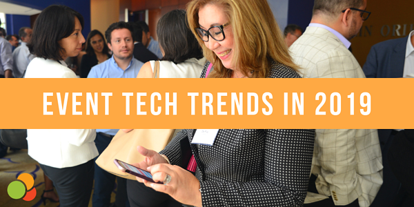 Image showing text of event tech trends in 2019.